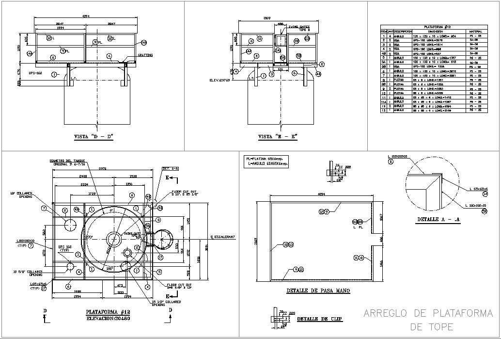 Plat for mofstop plan detail dwg file