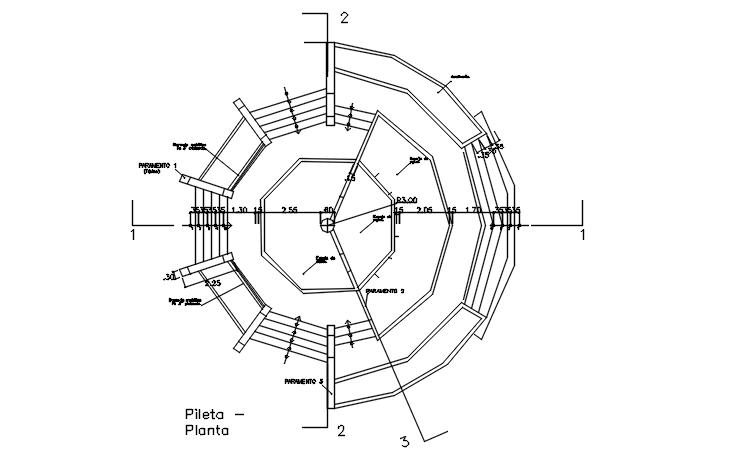 Plot area detail dwg file