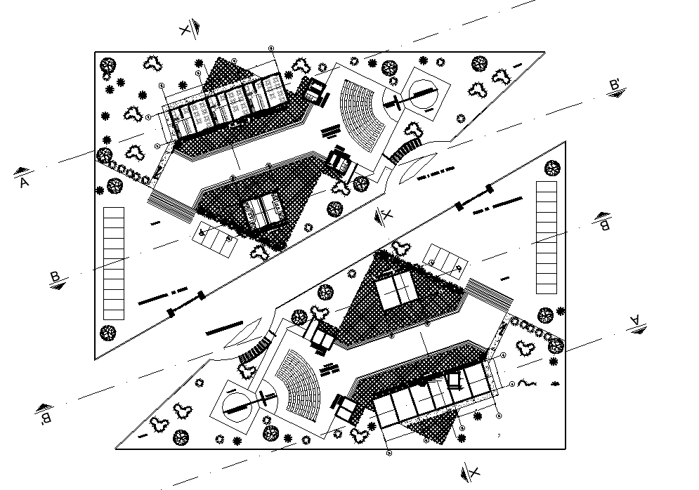 Plot commercial plan detail dwg file