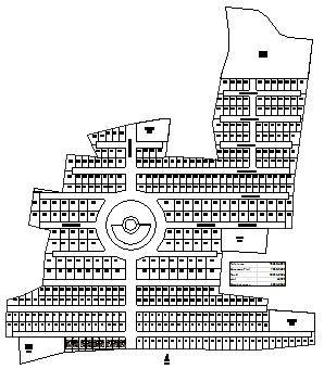 Plotting design drawing of residential housing design