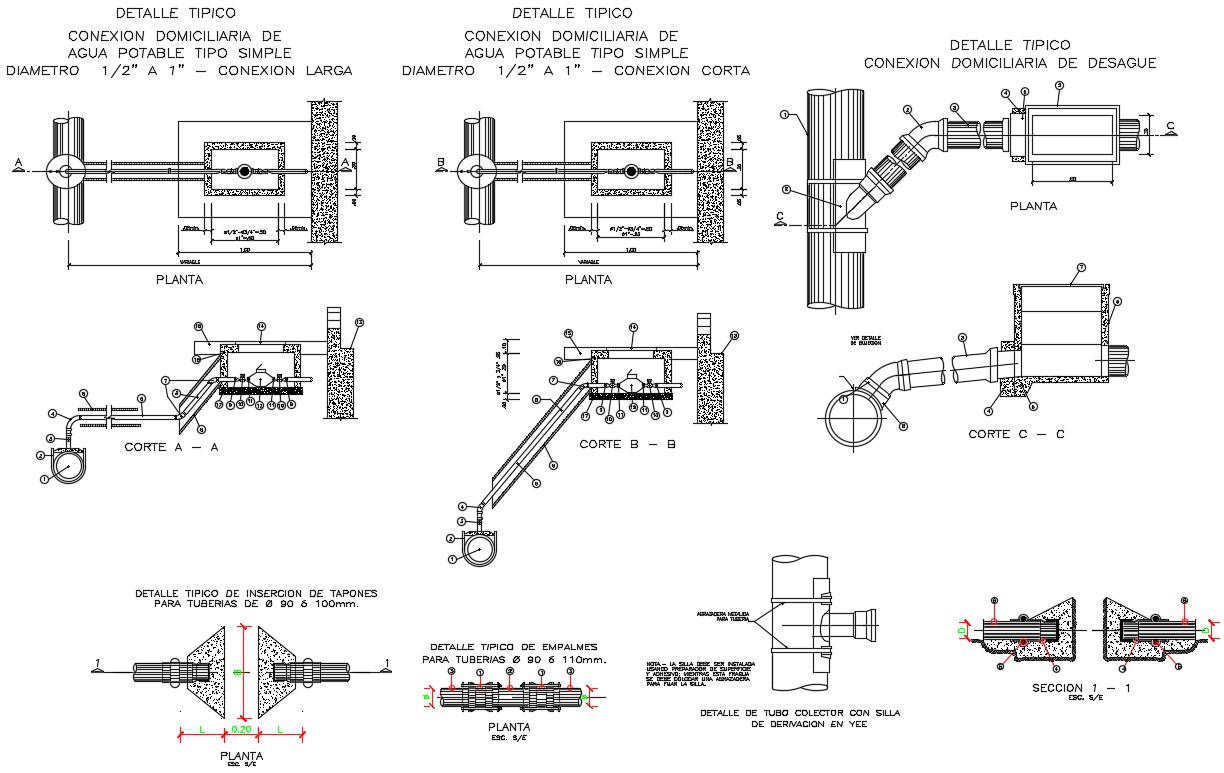 Plumbing Layout AutoCAD Drawing
