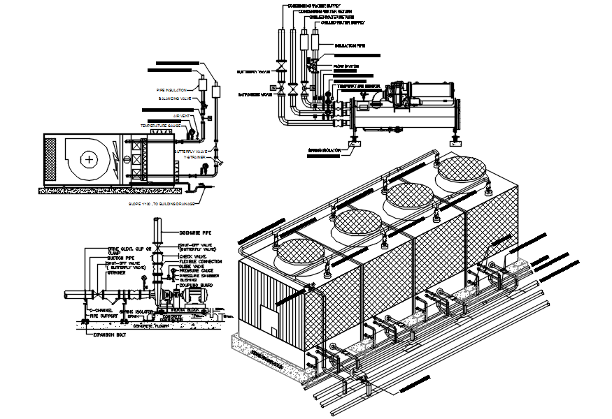 Plumbing detail in dwg file