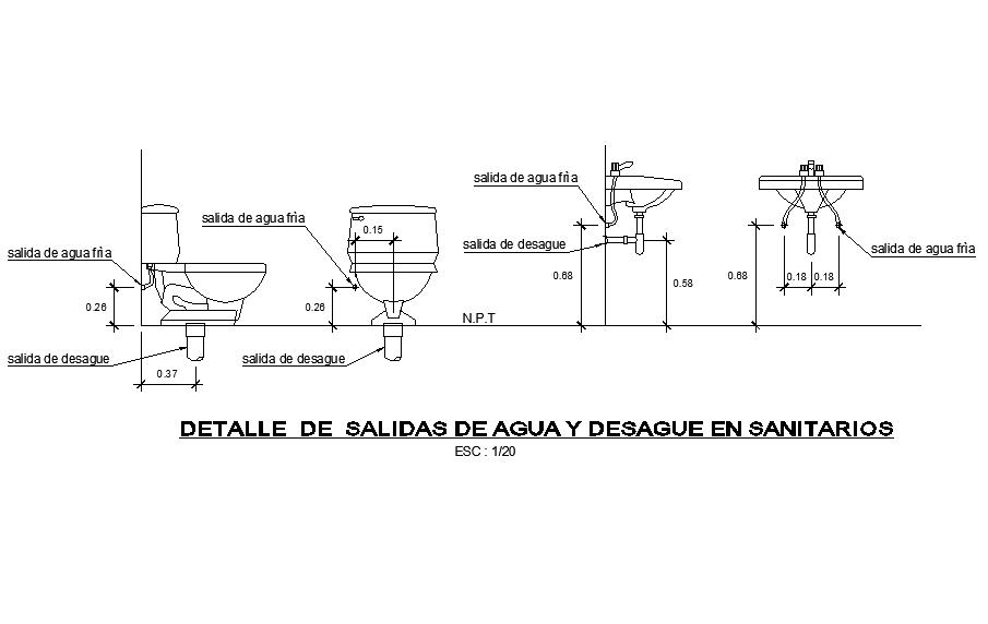 Plumbing sanitary detail