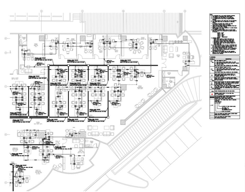 Power layout of the building with detail.