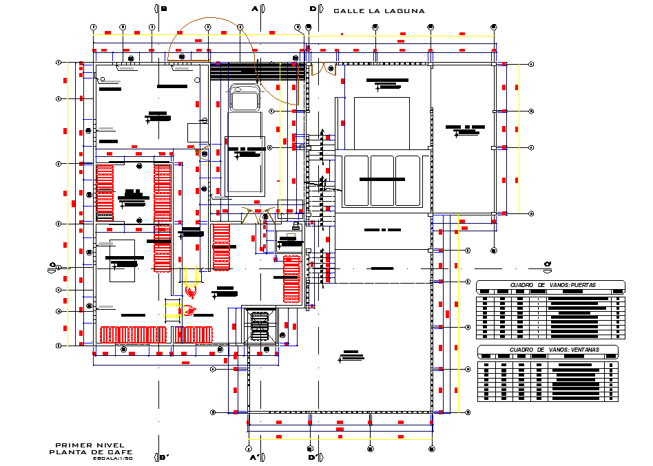 Primary level office plan detail