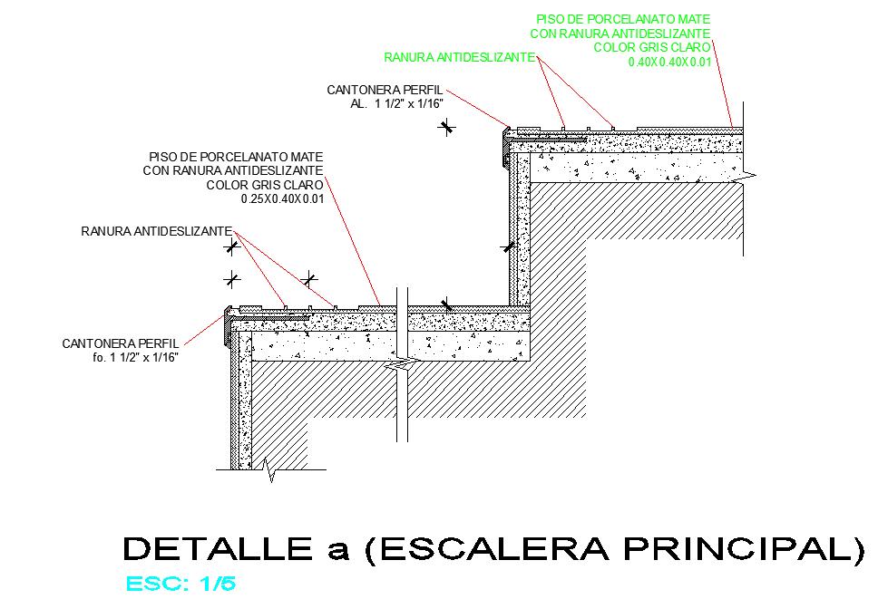 Principal stair plan detail dwg file