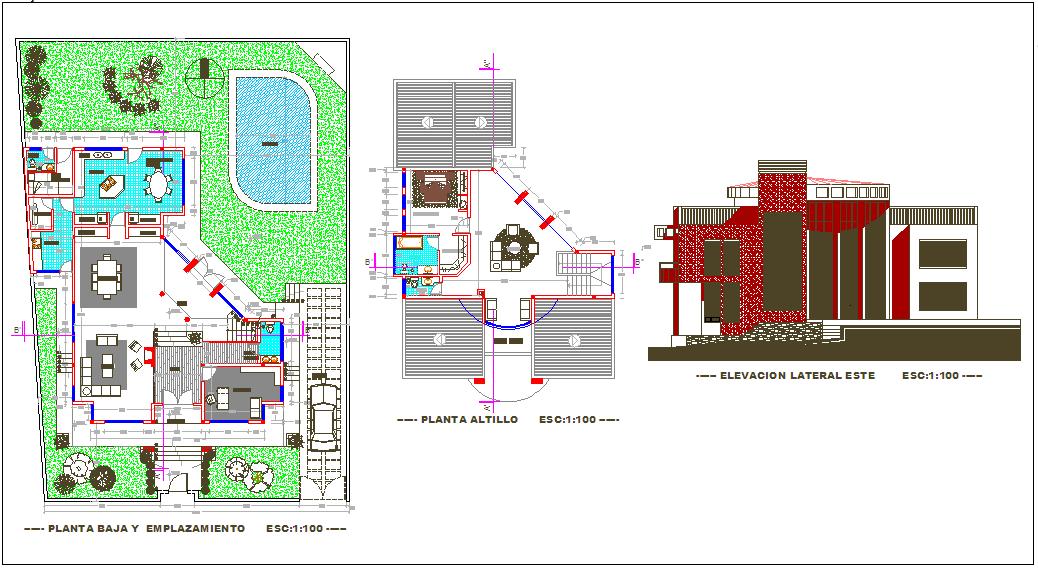 Project design for three floor villa