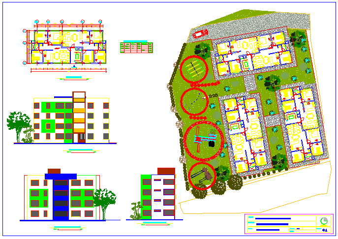 Project municipal apartments design drawing