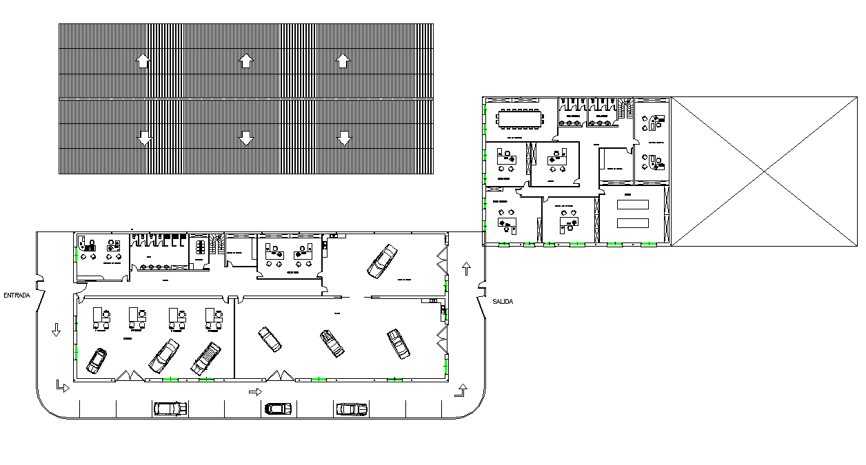 Project of industrial plan detail dwg file