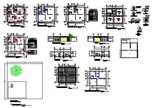 Project of offices design drawing