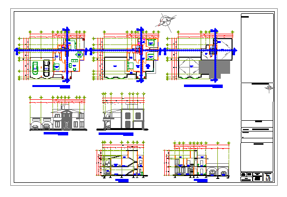 Proposed Layout design drawing of Residential house design