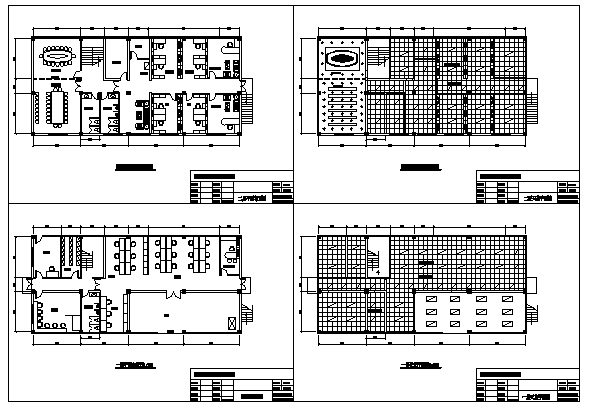 Proposed Layout plan of Office design drawing