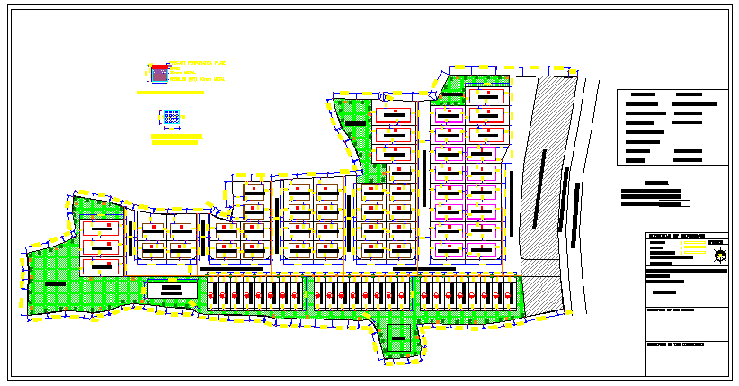 Proposed housing layout with survey number plot design