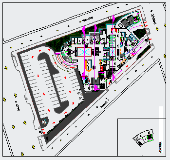 Proposed layout of Typical hospital design drawing