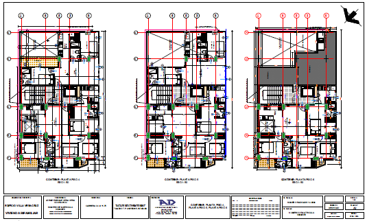 Proposed layout of furniture design drawing