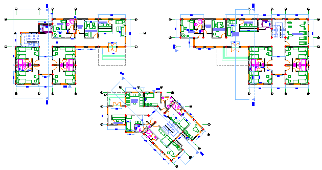Proposed layout of hostel design drawing