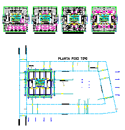 Proposed layout of office building design drawing