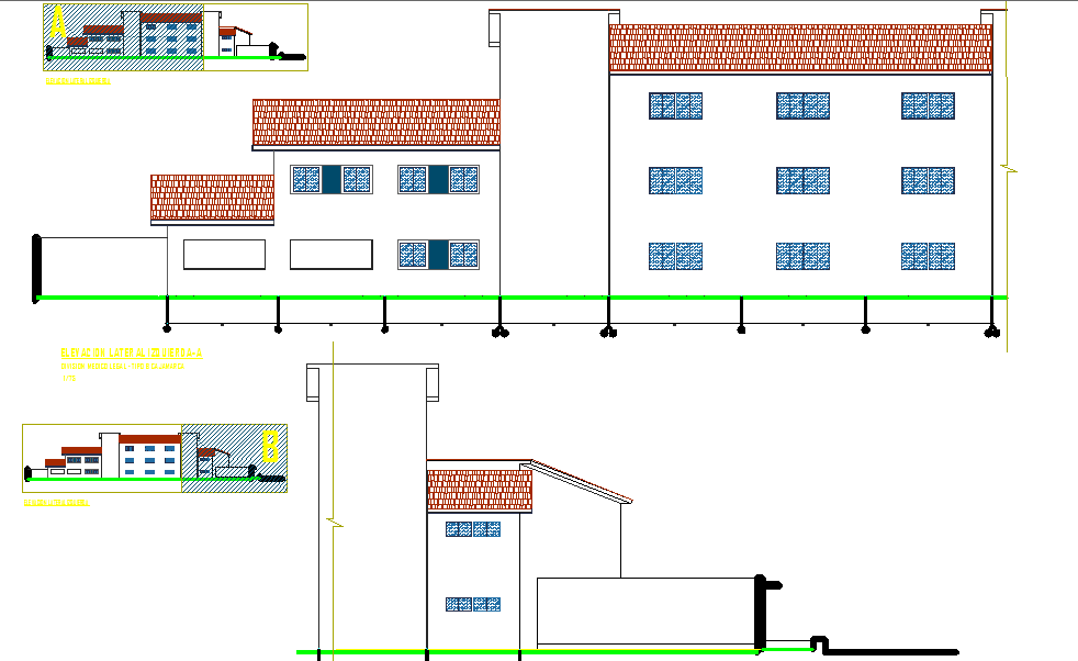 Public ministry elevation dwg file