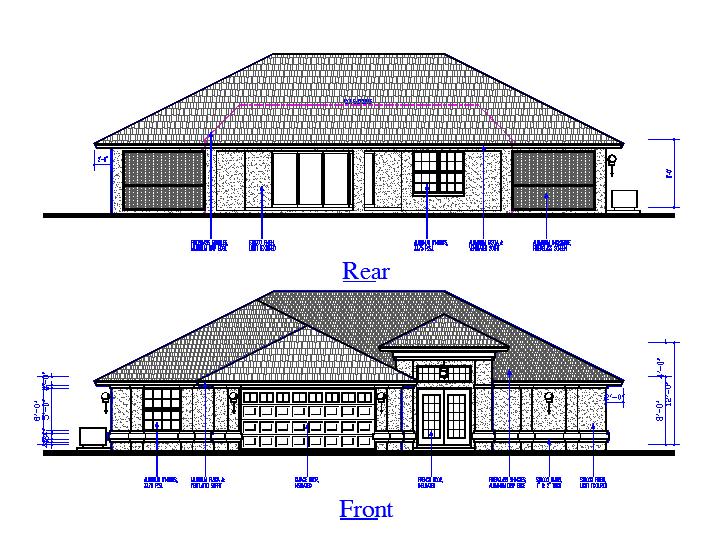 Rear & Front Side House Elevation Design