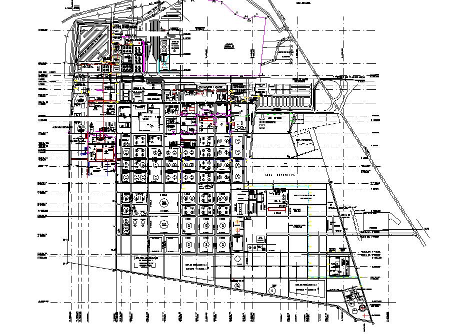 Refinery Miguel Hidalgo plan detail dwg file