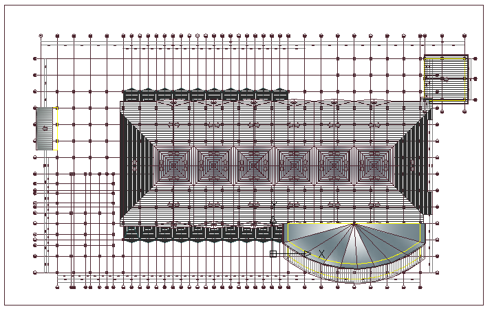 Region shopping mall architecture project dwg file