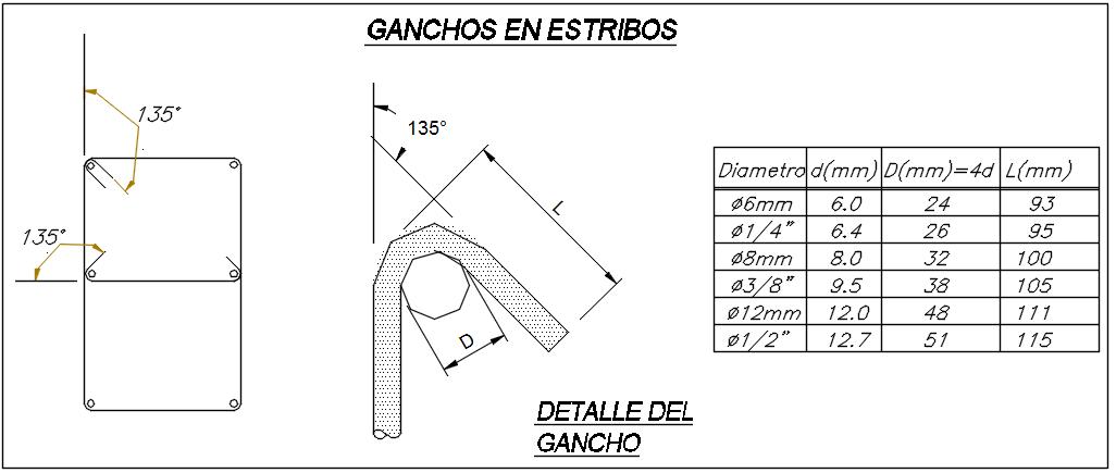 Reinforcement hook detail dwg file