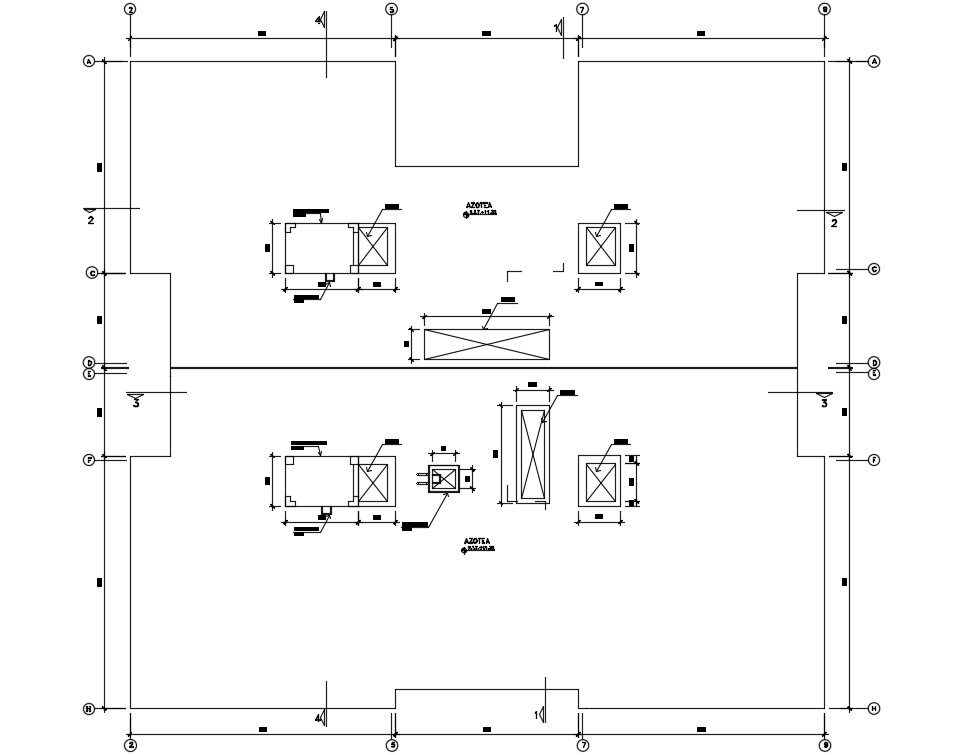 Residence Apartment Terrace plan CAD File