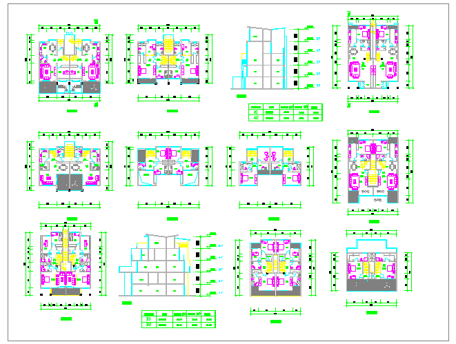 Residential Apartment Lay-out Plan Detail