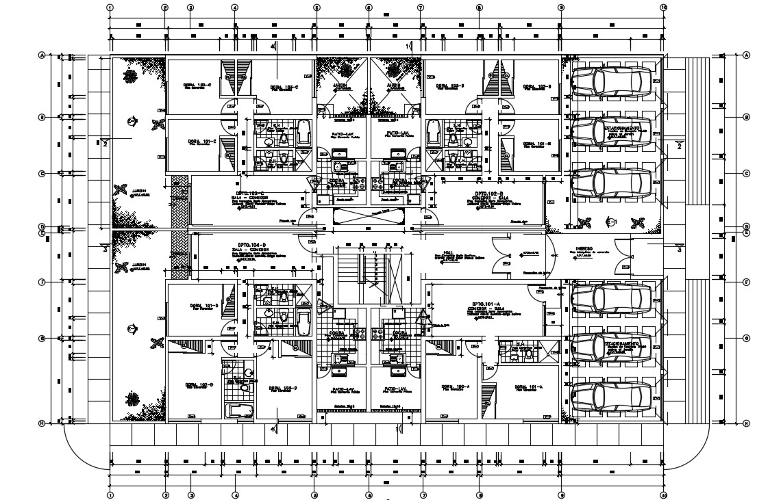 Residential Apartment Working Plan AutoCAD Drawing