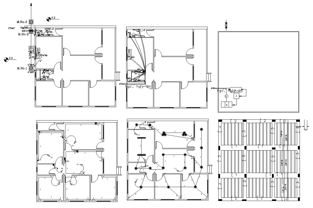 residential building electrical and plumbing design dwg