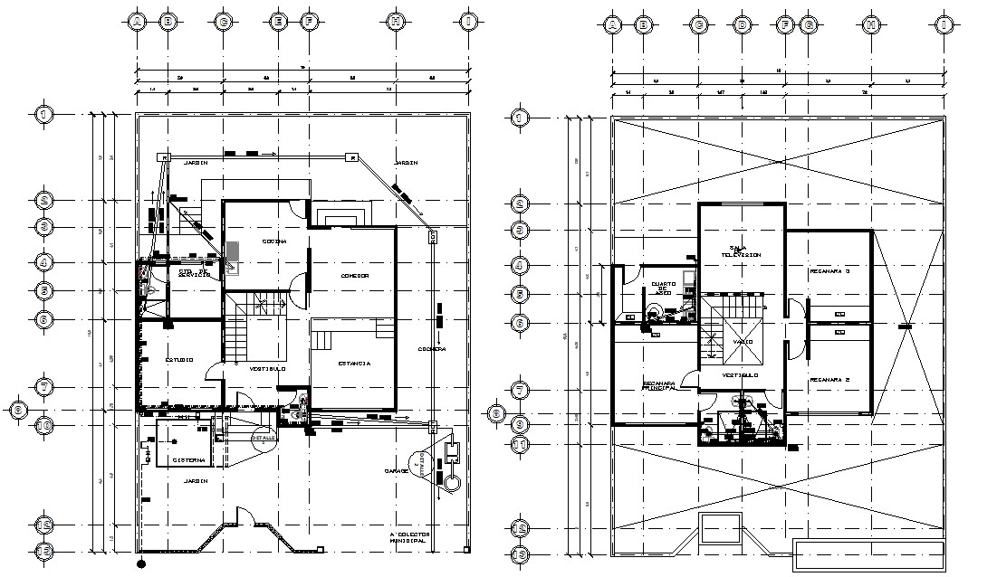 Residential Bungalow Working Plan AutoCAD Drawing