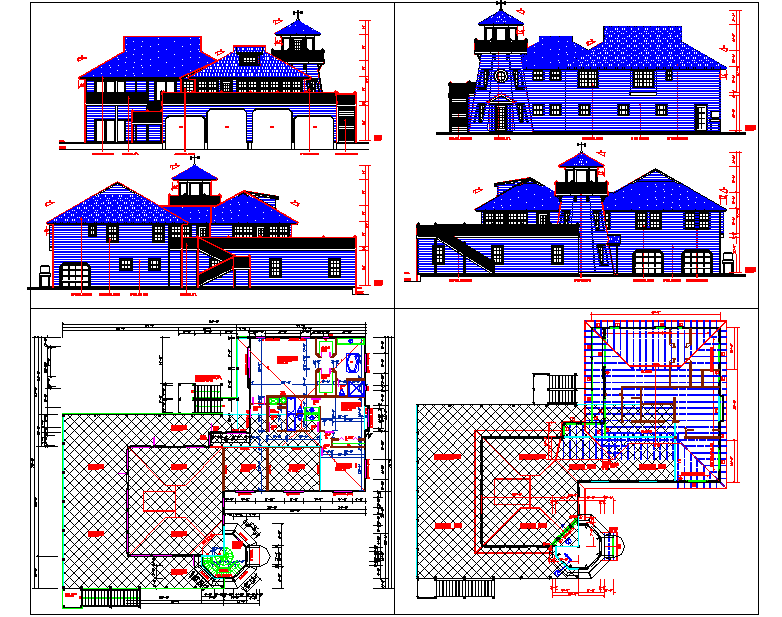 Residential Project dwg file.