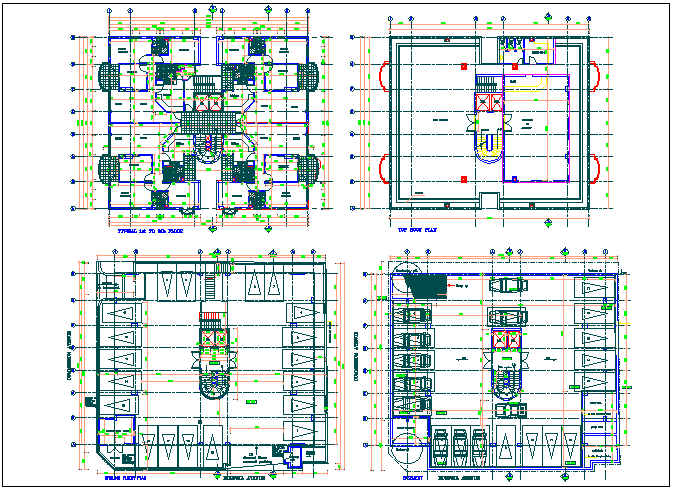 Residential apartment flat floor plan detail dwg file