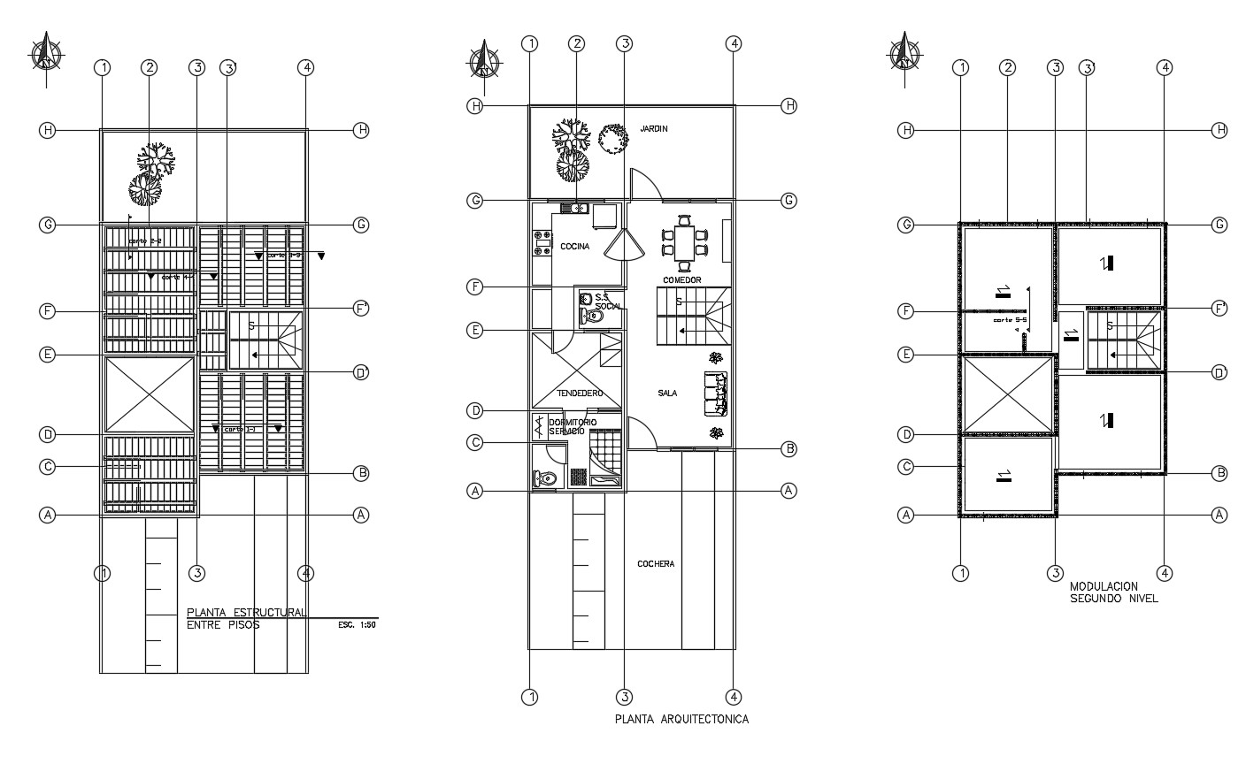 Residential apartment layout in autocad