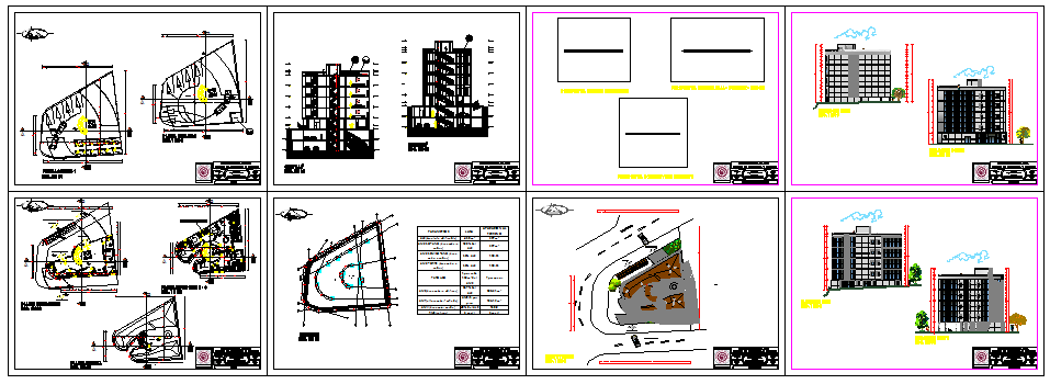 Residential building project design drawing