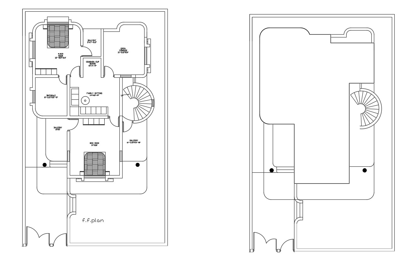 Residential drawing of house in dwg file