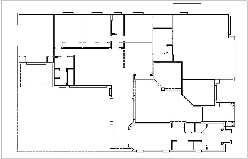 Residential floor plan dwg file