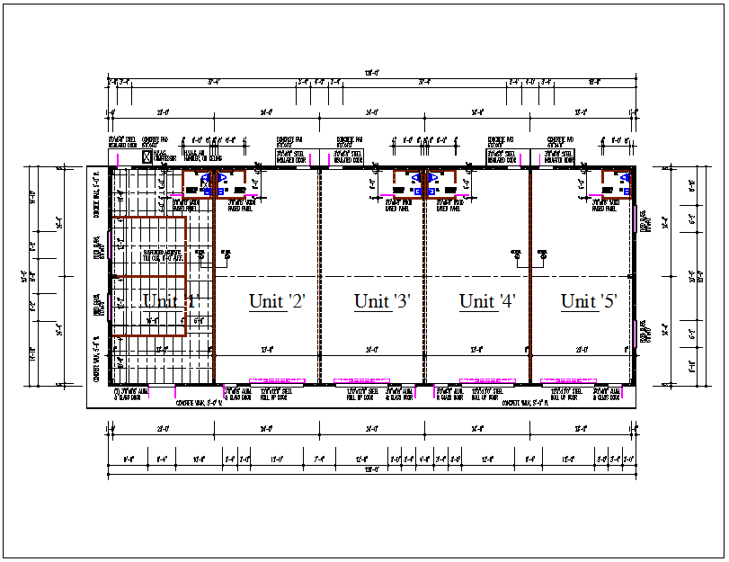 Residential house building plan view detail dwg file