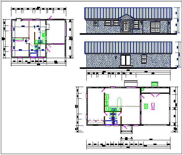 Residential house plan dwg file
