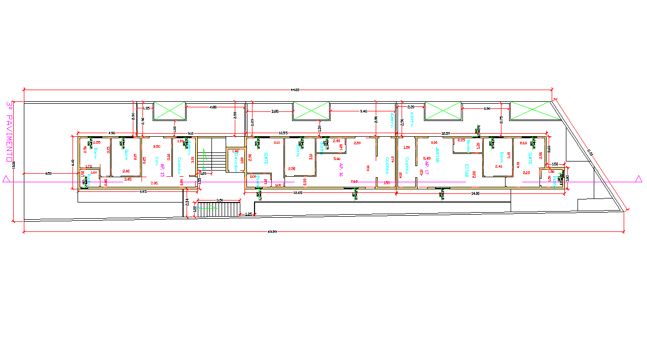 Residential house plan view detail and area dimensions detail dwg file