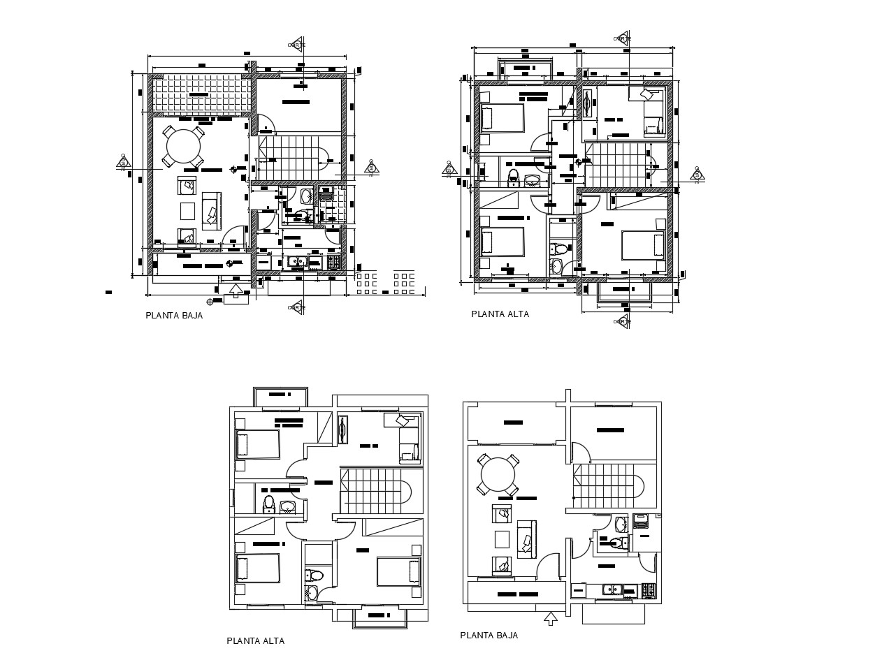 Residential House Design Plans In AutoCAD File