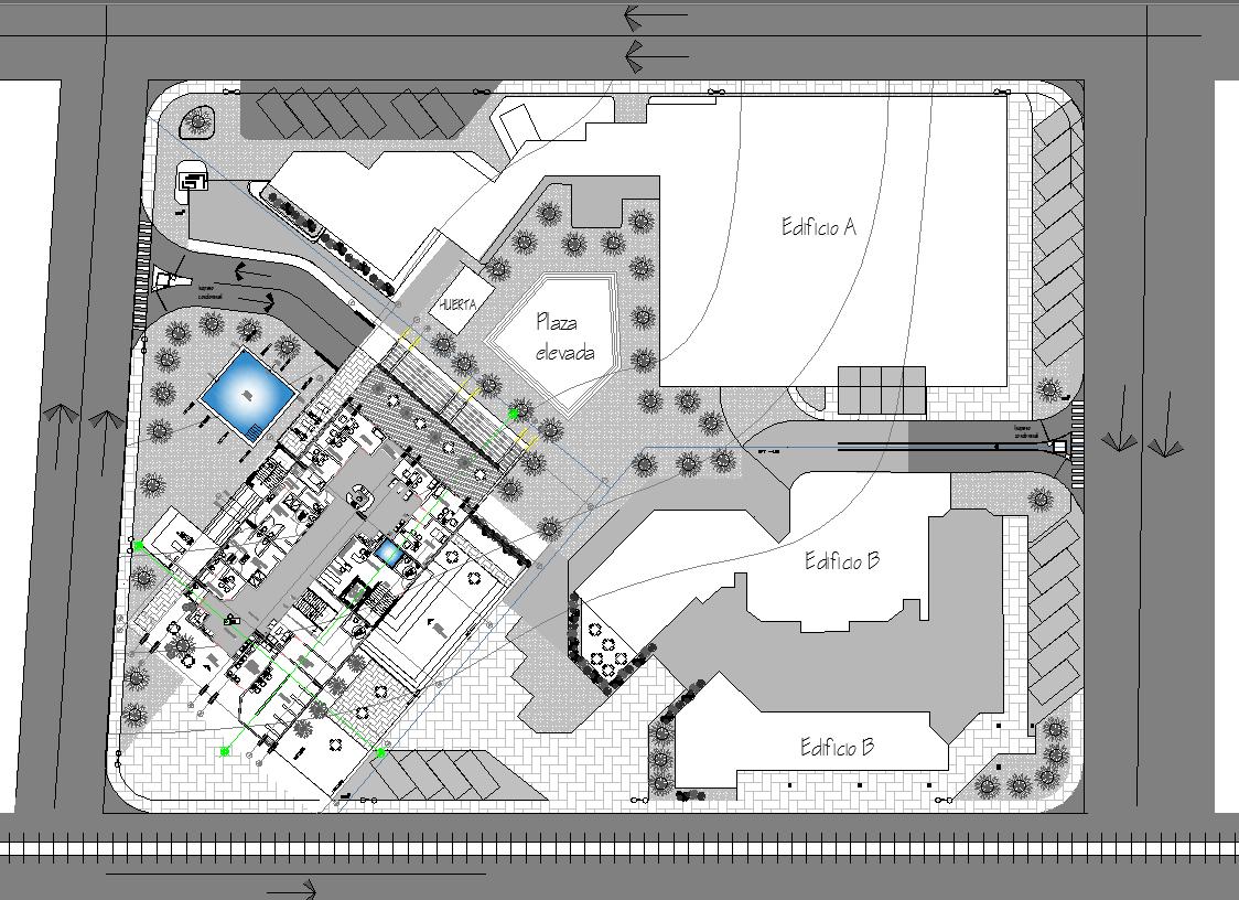 Resort Project detail dwg file