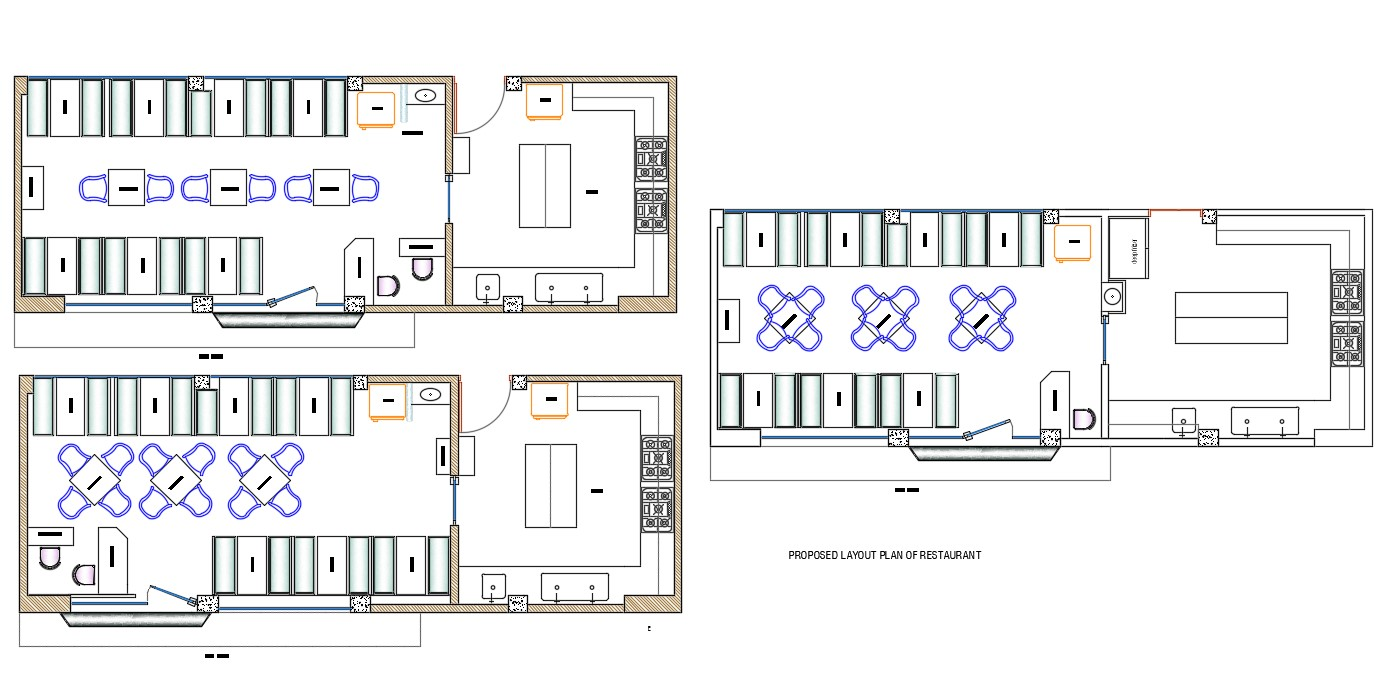 Furniture Layout plan AutoCAD Drawing