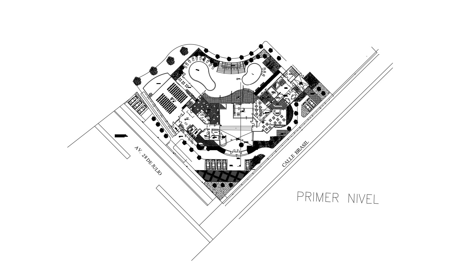 Restaurant  plan in AutoCAD file