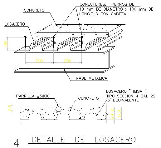 Ribbed slab construction details dwg file