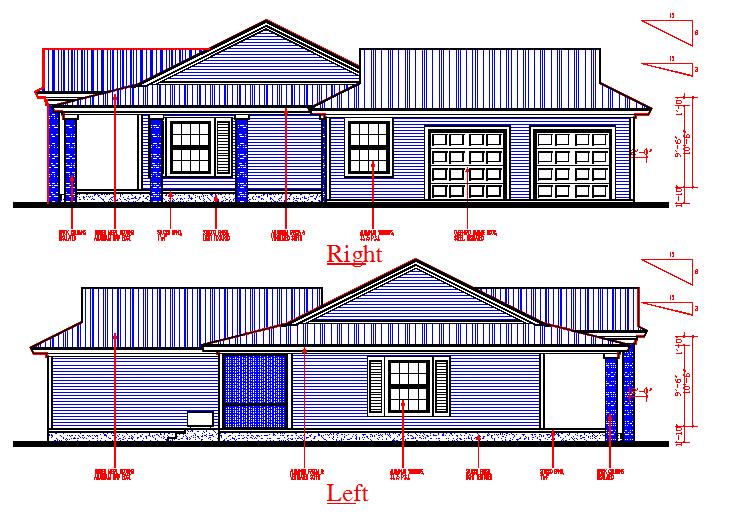 Right & Left side Elevation detail