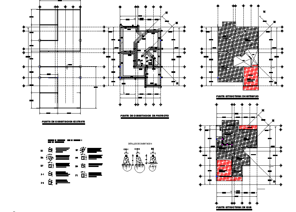 Roof house plan detail layout file