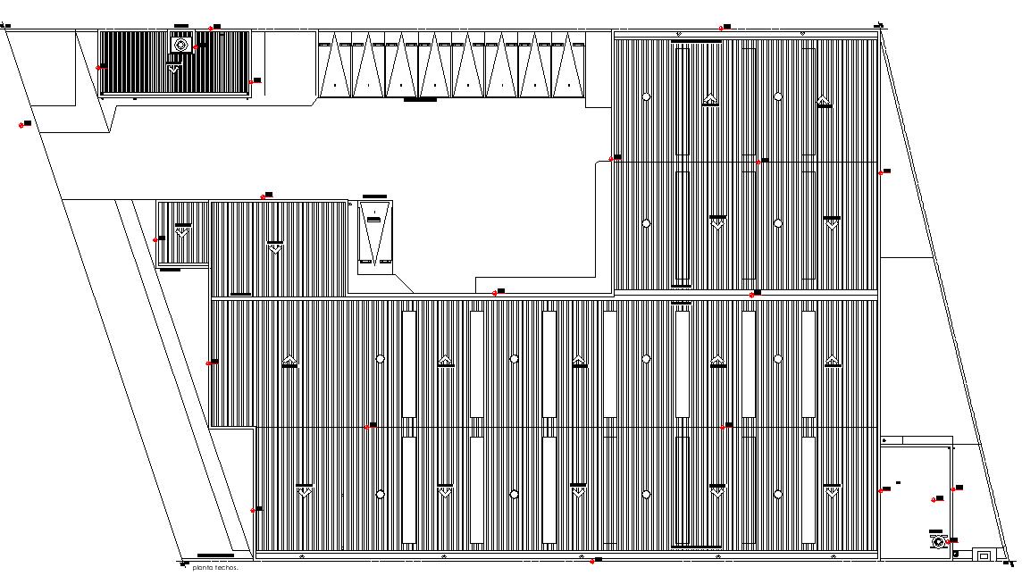 Roof plan detail