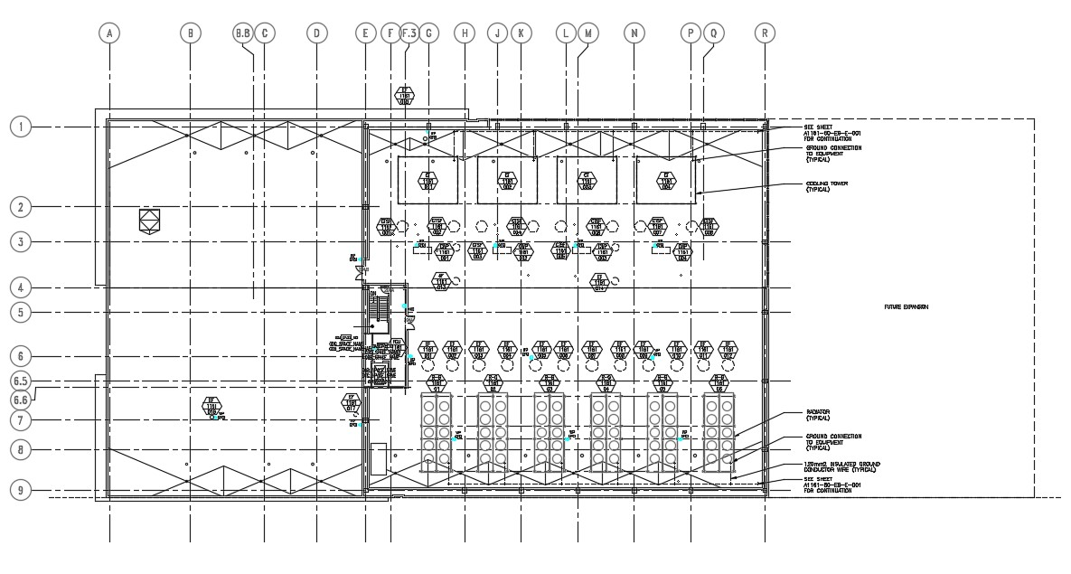 Roof plan in AutoCAD