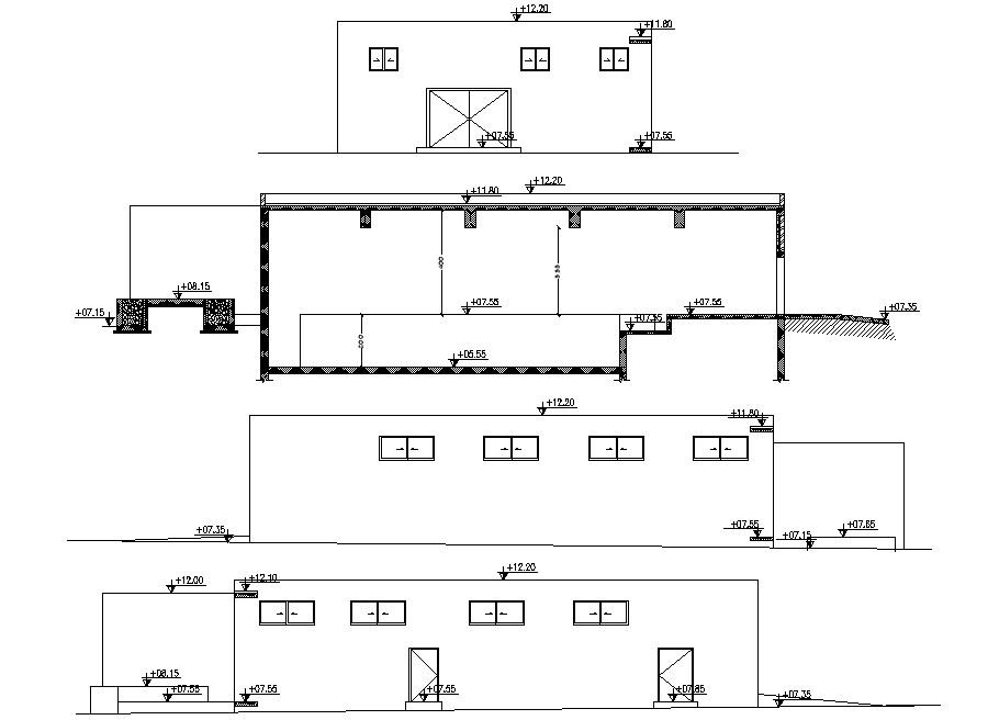 Room elevation Design CAD drawing